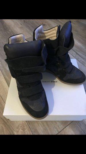 Isabel Marant Étoile Sneaker alta nero Scamosciato