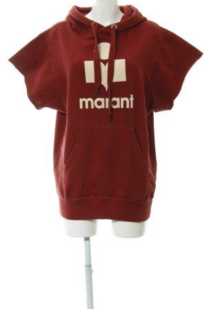 Isabel Marant Étoile Sweatshirt dunkelrot-creme Motivdruck Casual-Look