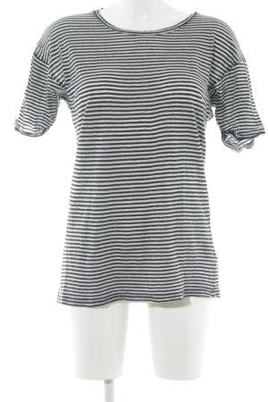 Isabel Marant Étoile T-Shirt weiß-schwarz Streifenmuster Casual-Look