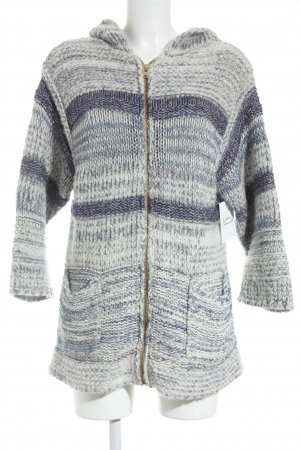 Isabel Marant Étoile Wool Jacket white-steel blue loosely knitted pattern