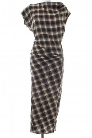 Isabel Marant Étoile Woolen Dress brown-natural white check pattern casual look