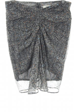 Isabel Marant Plaid Skirt allover print extravagant style