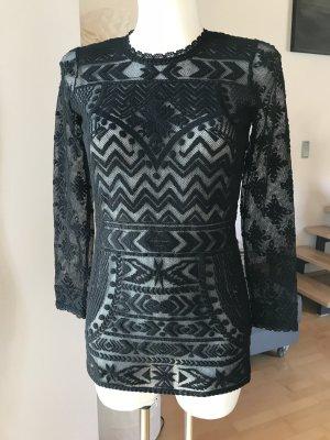 Isabel Marant für lange H&M Spitzenbluse oder als Minikleid Tunika schwarz