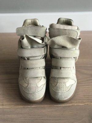 Isabel Marant Sneaker con tacco beige chiaro Scamosciato