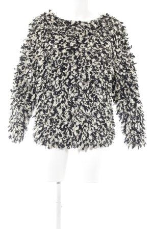 Isabel Marant Grof gebreide trui zwart-wolwit extravagante stijl