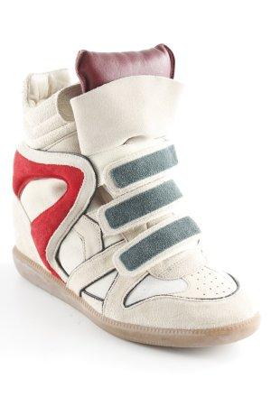 Isabel Marant Sneaker alta crema motivo astratto stile casual