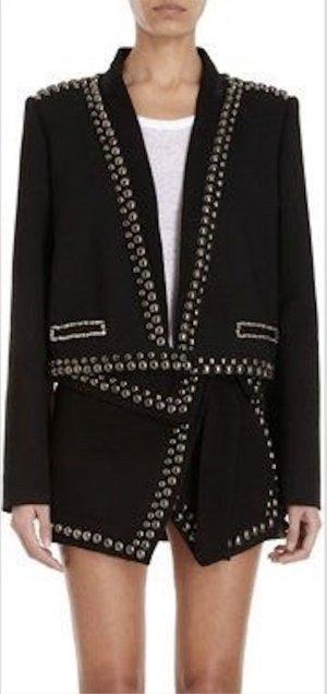 Isabel Marant Jacke 38 M NEU Schwarz Nieten Pailletten Wolle Jacket Black Wool