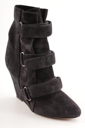 Isabel Marant Keil-Stiefeletten schwarz Casual-Look