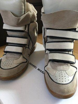 Isabel Marant Keilabsatz Sneaker Sand/Schwarz