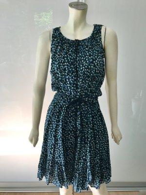 Isabel Marant Kleid Wickelkleid Blau Schwarz XS Wrap Dress Cotton Blue Black 34