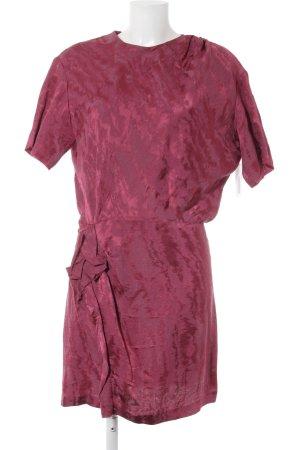 Isabel Marant Kurzarmkleid purpur-violett abstraktes Muster Romantik-Look