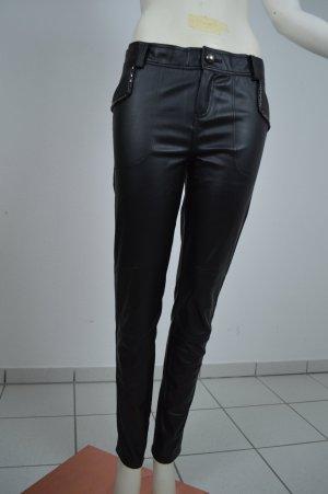 Isabel Marant Lederhose schwarz leather pants 8 neu Blogger