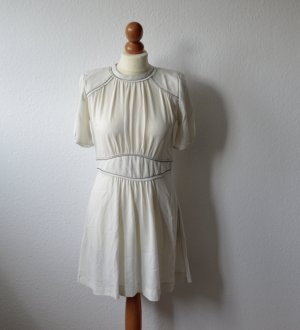 Isabel Marant Pointelle-trimmed crepe Dress white