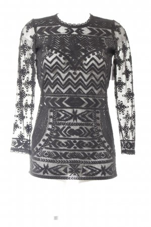 Isabel Marant pour H&M Longsleeve schwarz abstraktes Muster Casual-Look
