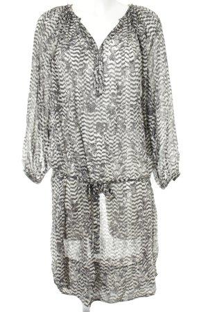 Isabel Marant pour H&M Minikleid weiß-schwarz abstraktes Muster Boho-Look