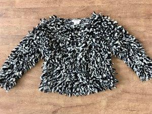 Isabel Marant pour H&M Pullover Strick Wolle Schwarz Weiß XS 34 Blogger
