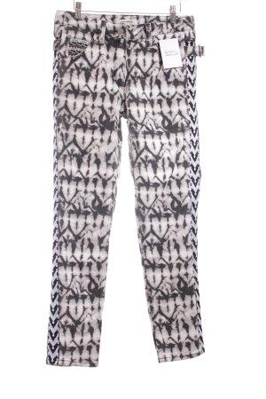 Isabel Marant pour H&M Straight-Leg Jeans schwarz-weiß Batikmuster