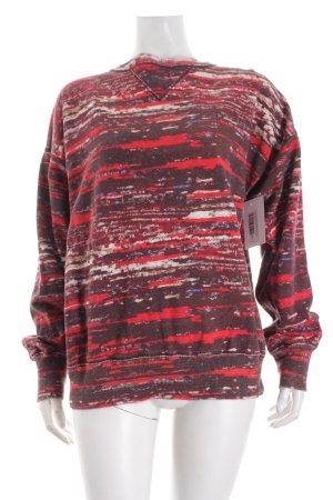 Isabel Marant pour H&M Sweatshirt rot-dunkelbraun abstraktes Muster Casual-Look