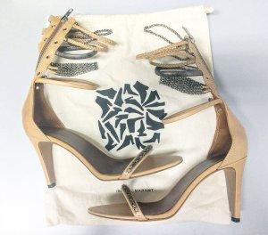 Isabel Marant High Heel Sandal beige-silver-colored leather