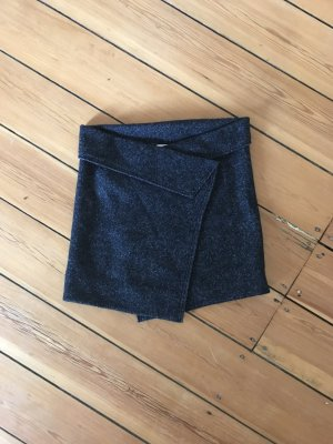 Isabel Marant Rock Wolle Tweed Drapiert Mini Wickel Überschlag