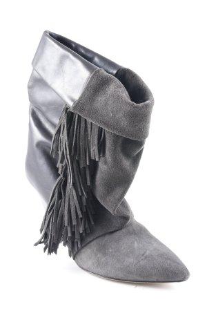 Isabel Marant Slouch Stiefeletten schwarz-grau extravaganter Stil
