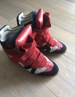 Isabel Marant Sneaker con strappi rosso-crema