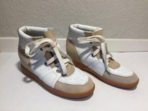Isabel Marant Sneaker alta bianco-sabbia