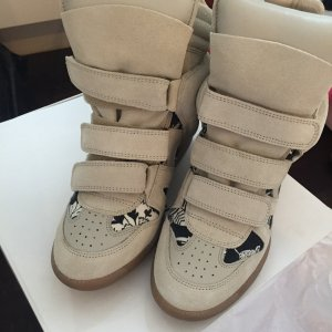 Isabel Marant Velcro Sneakers white leather