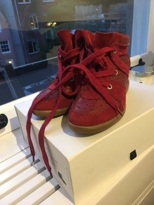 Isabel Marant Sneaker alta rosso scuro