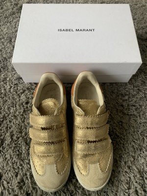 Isabel Marant Zapatillas con velcro color oro