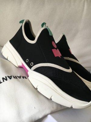 Isabel Marant Sneaker slip-on nero-viola Pelle