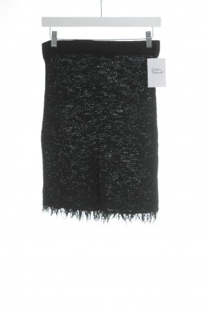 Isabel Marant Stretchrock schwarz Lochstrickmuster Elegant