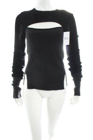 Isabel Marant Strickpullover schwarz extravaganter Stil