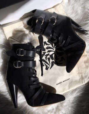 Isabel Marant Suede Buckle Boots