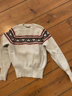 Isabel Marant Sweater Strichpullover 34 (französische 38) Beige mit Navajo Muster
