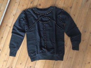 Isabel Marant Sweatshirt Nieten Grau Jumper Cut Out Blogger