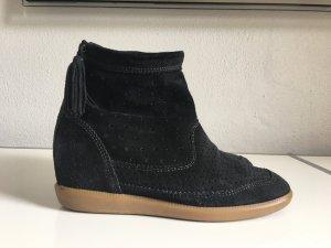 Isabel Marant Korte laarzen zwart Leer