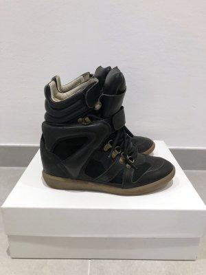 Isabel Marant Wedge Sneaker black leather