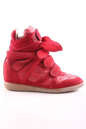 "Isabel Marant Sneaker con zeppa ""Beckett High-Top"" rosso"