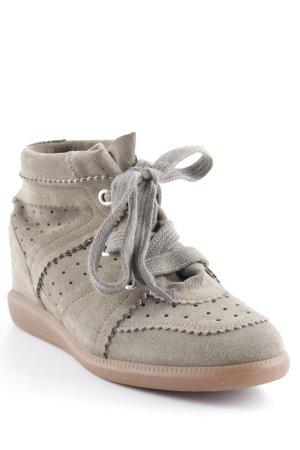 """Isabel Marant Wedge Sneaker """"Bobby Sneaker Velvet Stainer Basket Taupe 39"""""""