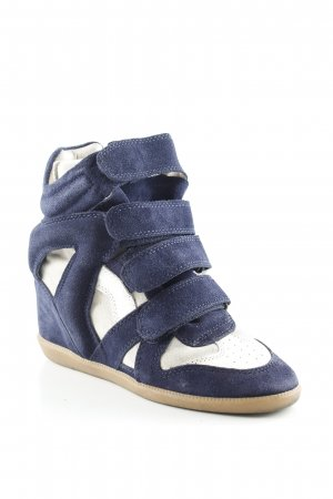 Isabel Marant Wedge Sneaker dunkelblau-weiß Casual-Look