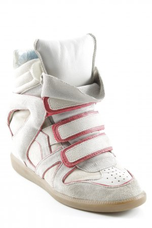 Isabel Marant Wedge Sneaker hellbeige-rot Casual-Look