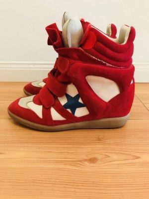 Isabel Marant Wedge Sneaker red Bayley Gr.40