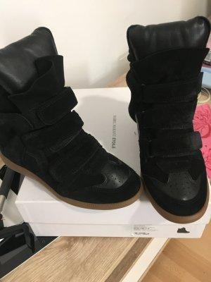 Isabel Marant Velcro Sneakers black