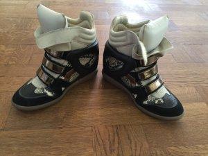 Isabel Marant Sneaker con zeppa multicolore Pelle