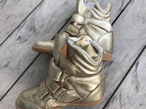 Isabel Marant Wedge-Sneakers gold mit internen Absatz neuwertig