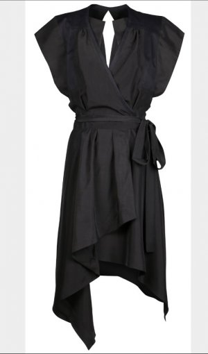Isabel Marant Robe portefeuille noir soie