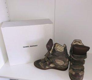 Isabel Marant Sneaker con zeppa grigio-verde-cachi