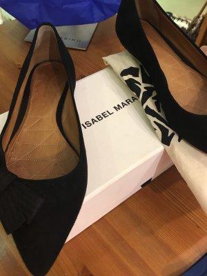 Isabel Marent Ballerina schwarz velvet leather