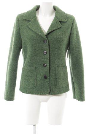 Isabella G. Blazer en laine vert forêt moucheté style décontracté